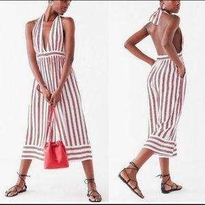 UO Raven Plunging Halter Jumpsuit NWT XS